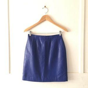 💙⚡️🔥 Vintage Cobalt Royal Blue Leather Miniskirt